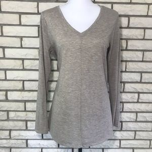 Apt 9 V Neck Tunic Tan Medium